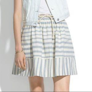 Madewell Dockstripe Striped Cotton Mini Skirt